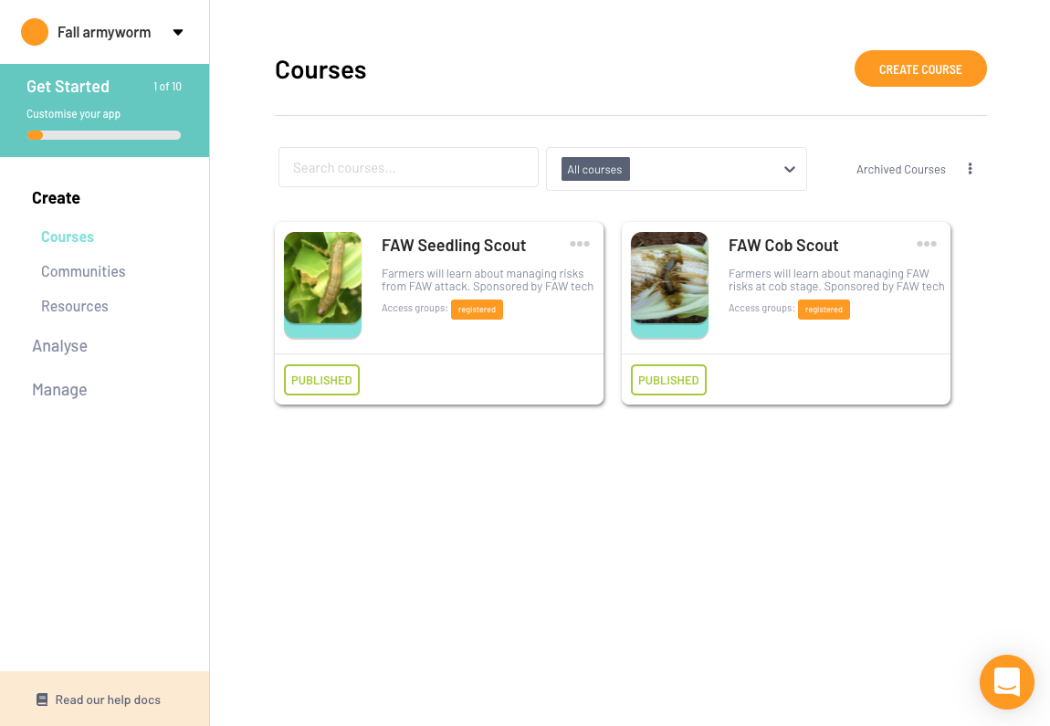 You can access the Fall Armyworm mobile trainings on learn.ink